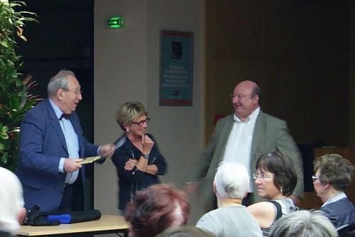 Pierre Boyer, Roselyne Bouvier (vice-présidente) et Thierry France-Lanord (Président)