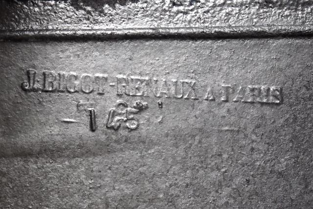 Zinguerie de la villa Majorelle, signée d'un artisan parisien