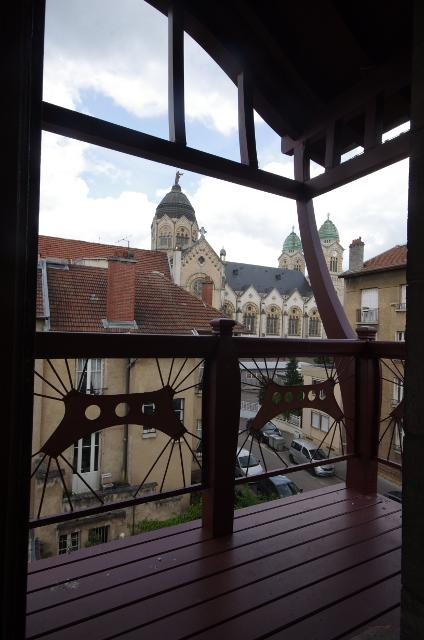 Le balcon restauré de la villa Majorelle