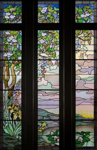 Hôtel de ville d'Euville, vitrail Jacques Gruber