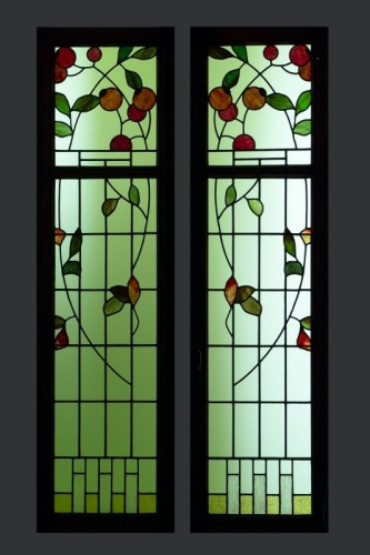La-Chaux-de-Fonds,  vitrail Art Nouveau style Sapin