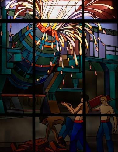 vitraux Majorelle - la fonte en fusion - photo Cédric Amey